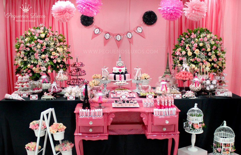 paris themed baby shower ideas