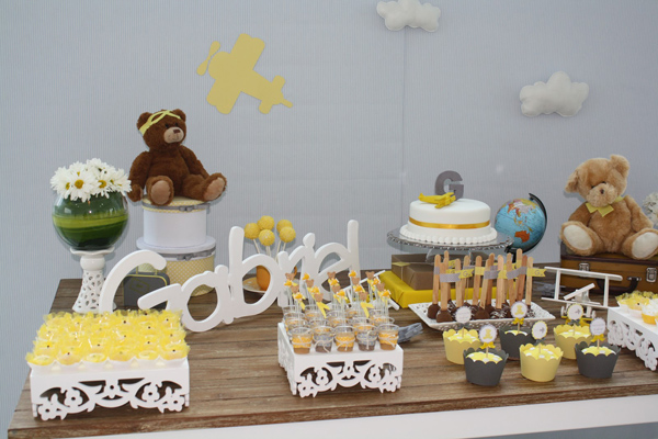 flying high with aviator bear baby shower baby shower ideas