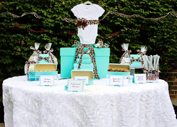 ... Tiffany U0026 Co Baby Shower Ideas Dessert Table Diaper Cake
