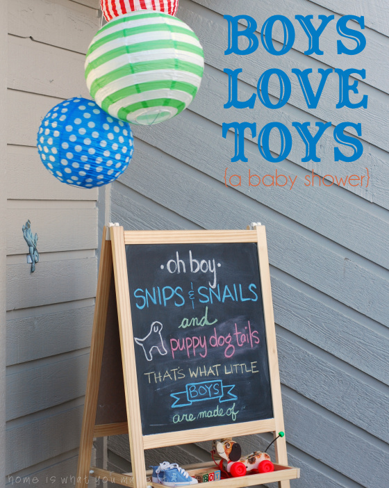 Snips And Snails And Puppy Dog Tails Baby Shower Baby Shower Ideas