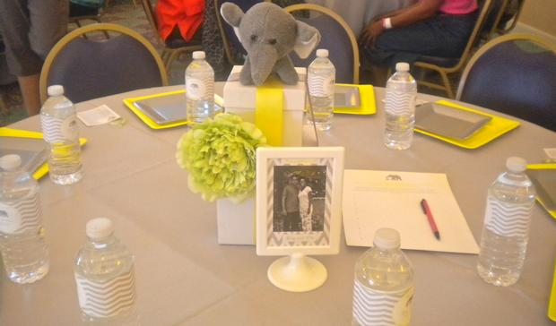 Perfect Bundle Of Joy Baby Shower Theme Via Babyshowerideas4u.com Grey And Yellow  Colors Table Setting