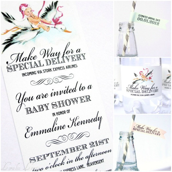 Stork Express Airline Baby Shower Theme Baby Shower Ideas – Stork Party Invites