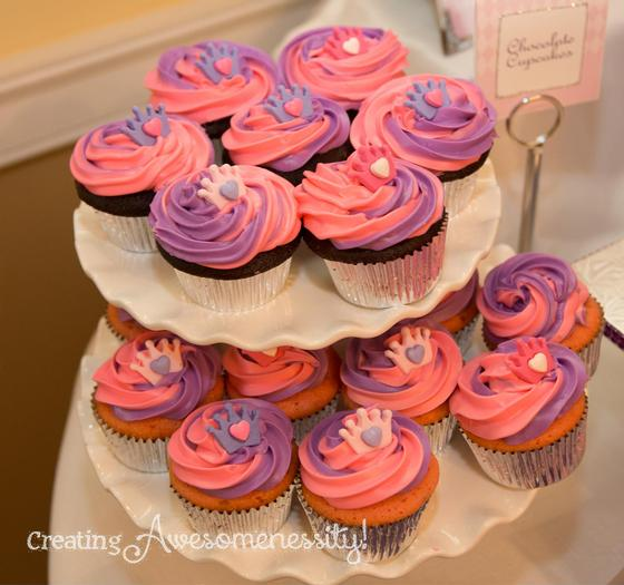 ... A Royal Welcome Baby Shower Decorations Via Babyshowerideas4u.com Purple  Pink Cupcakes ...