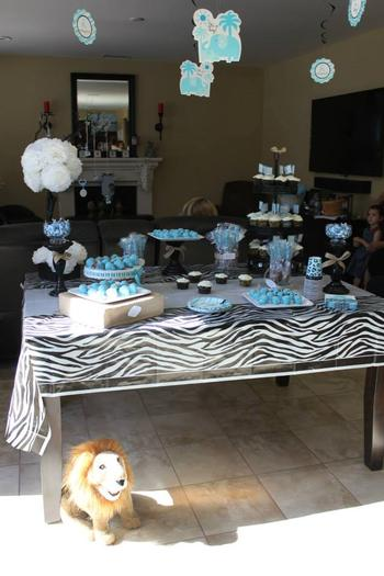 Safari Themed Surprise Baby Shower Baby Shower Ideas Themes Games