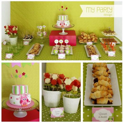 pink and green owl baby shower baby shower ideas themes games