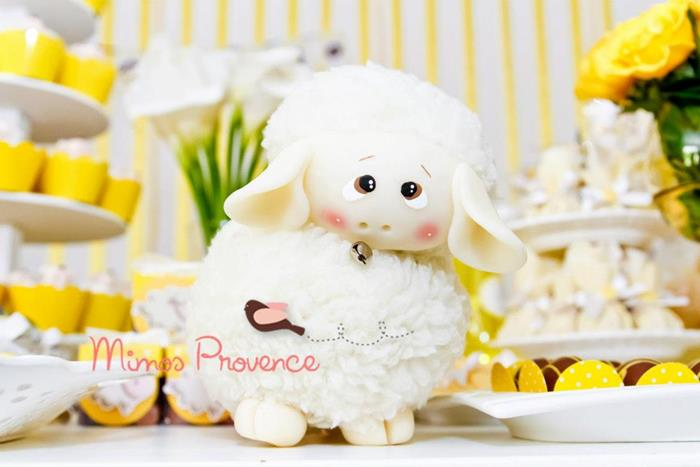 little lamb themed baby shower and many other baby shower themes