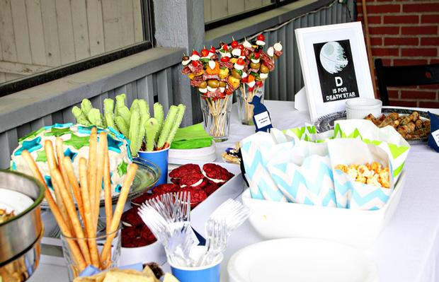 ... Star Wars Baby Shower, Baby Sprinkle Ideas Via Babyshowerideas4u Food  Table ...