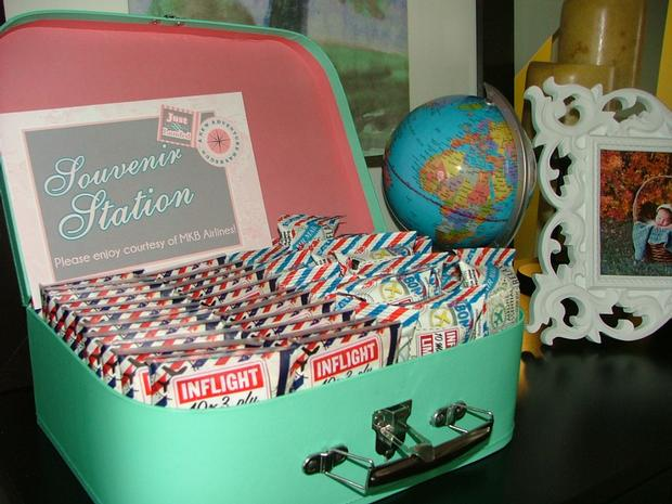Exceptional Vintage Travel Themed Baby Shower   Flight And Cargo Via Babyshowerideas4u  Inflight Souvenirs