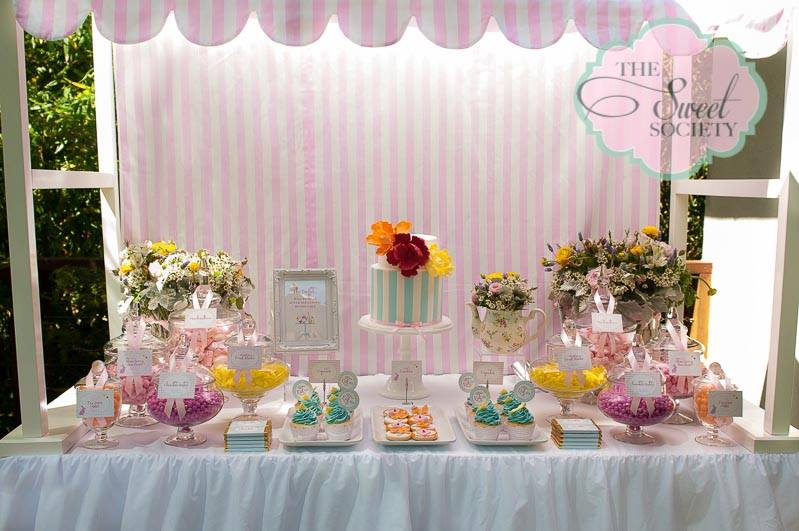 Whimsical Wonderland Garden Party Via Babyshowerideas4u Dessert Bar