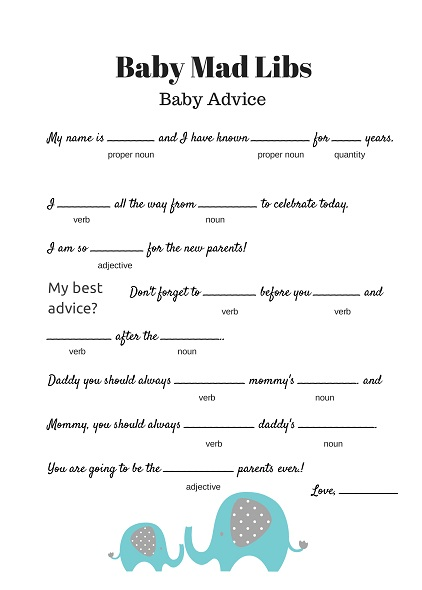 image relating to Baby Shower Mad Libs Printable referred to as Marriage Ridiculous Libs Printable. Totally free Wedding day Outrageous Libs Printable