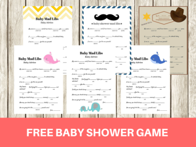 PRINTABLE SHOWER BABY FREE GAMES