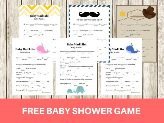 baby shower mad libs game baby advice game babyshowerideas4u baby