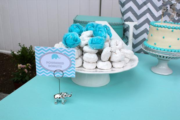 Modern Chevron Elephant Baby Shower Baby Shower Ideas