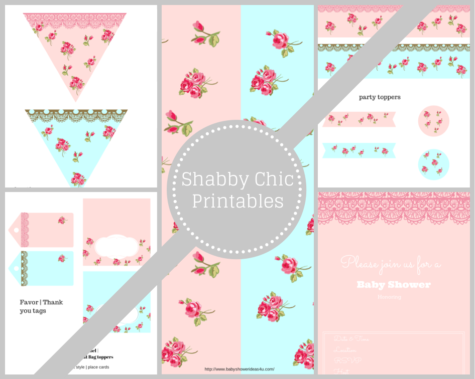 Free Shabby Chic Printables Baby Shower Ideas Themes