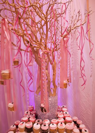 baby glam shower ideas via babyshowerideas4u lovely dessert table so stunning, pregnant manequin centerpiece, pink floral and bling bling, cupcake tree and tutu table 2