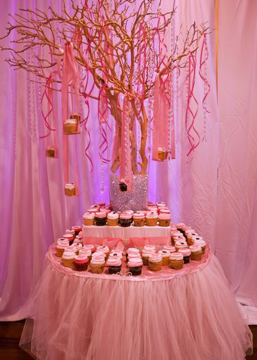 Baby glam shower baby shower ideas themes games for Baby shower tree decoration