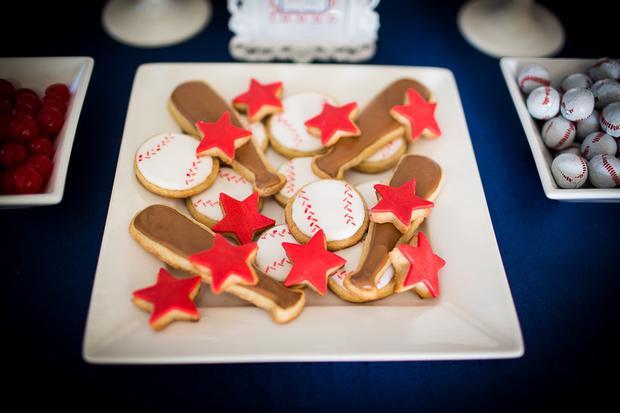 Baseball Themed Baby Shower Ideas Ruffled Cake Amazing Baseball
