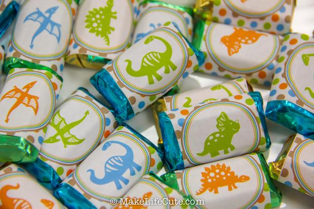 ... Decoration Dinosaur Themed Baby Shower Candy Wrappers ...