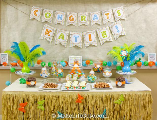 Dinosaur Themed Baby Shower Dessert Table