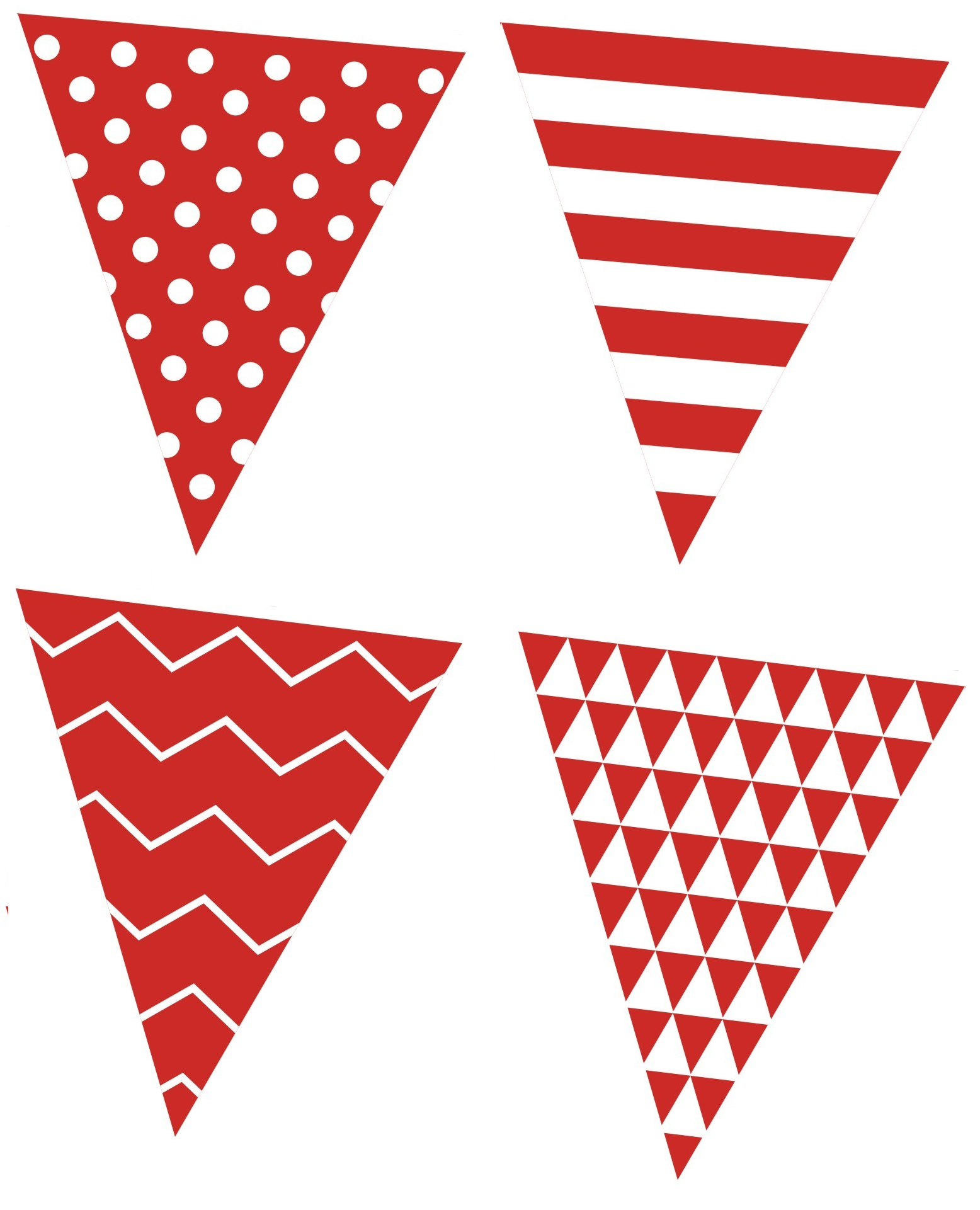 Free+printable+bunting+garland+banner+red