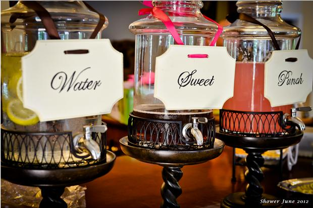 Hollywood Baby Shower Ideas Lights Camera Drink Station Baby