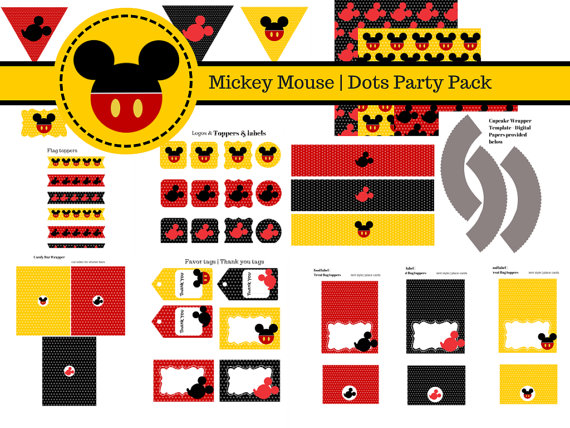 Free Mickey Mouse Party Printables Baby Shower Ideas