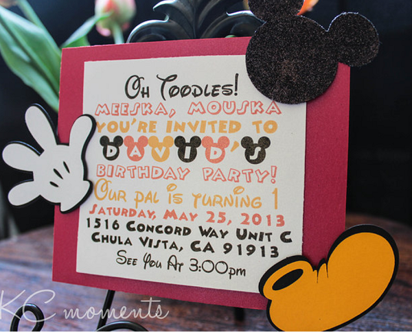 mickey mouse cute invitation Baby Shower Ideas Themes Games