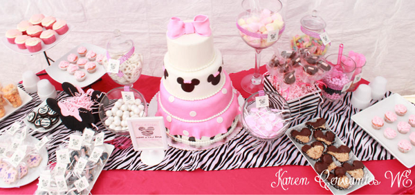 Minnie Mouse Candy Table Ideas Photograph Par