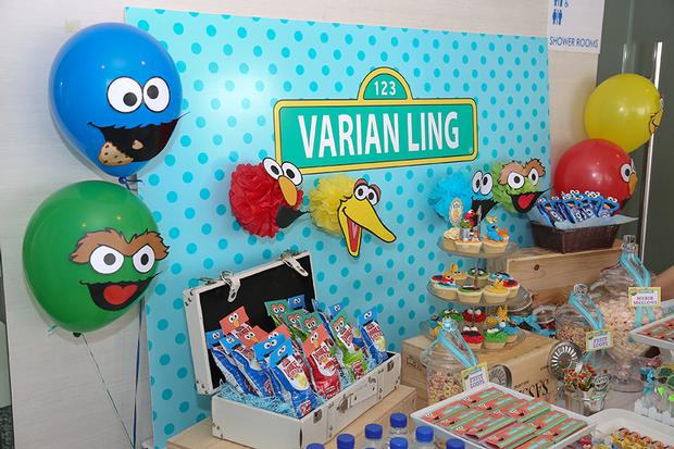 Sesame Street Themed Dessert Table Baby Shower Party 12
