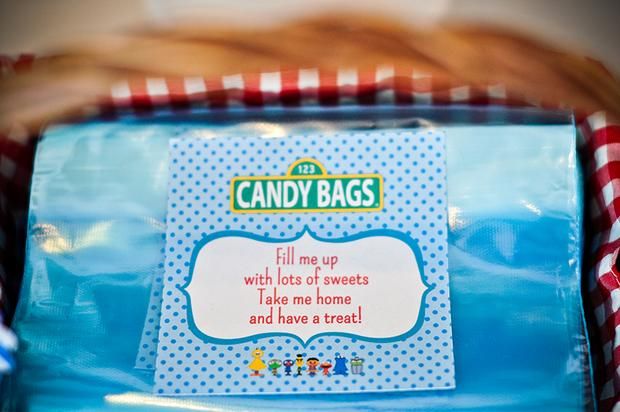 Sesame Street Themed Dessert Table Baby Shower Party Candy Favor Bags