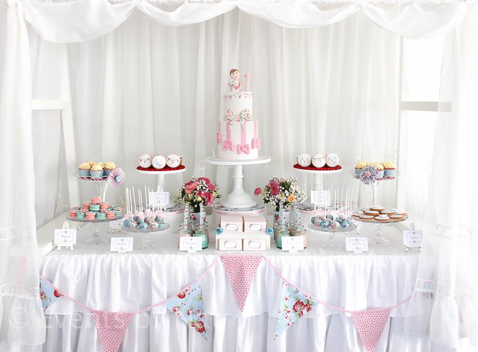 shabby chic baby shower table shabby chic party ideas baby shower