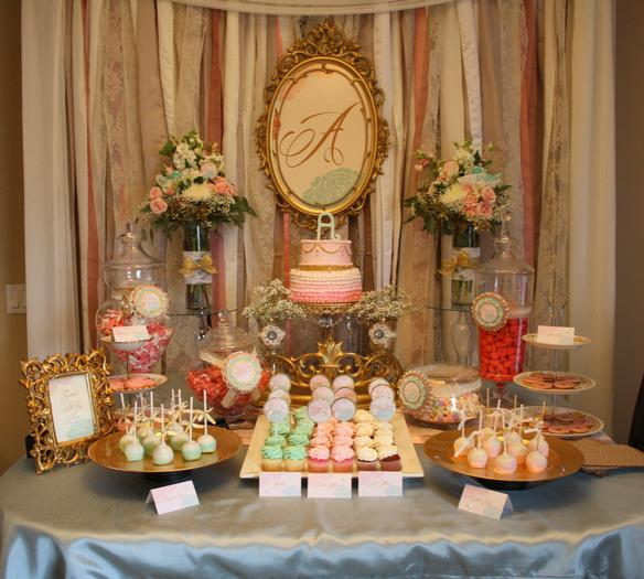 Vintage Glam Baby Shower Via Babyshowerideas4u