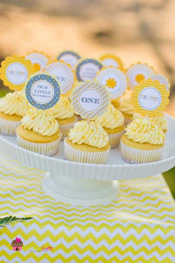 You Are My Sunshine Grey Yellow Chevron Party Via