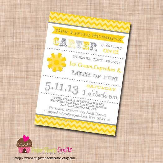 ... You Are My Sunshine Grey Yellow Chevron Party Via Babyshowerideas4u.com Baby  Shower Ideas Invites ...