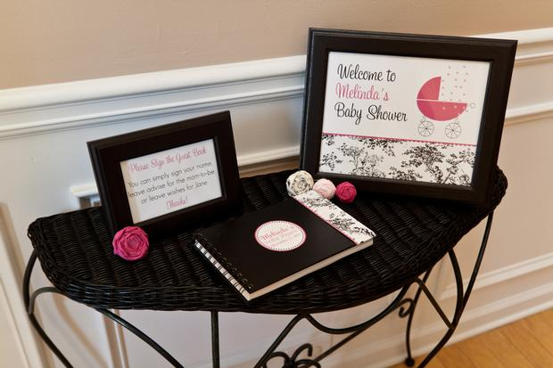 Black And White Toile Baby Shower Baby Shower Ideas Themes Games
