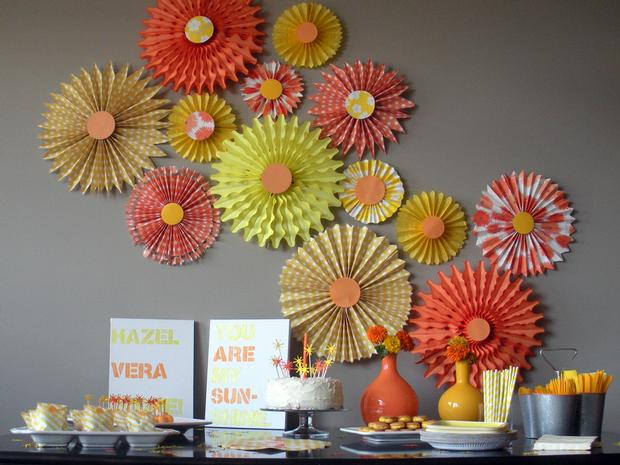 Orange And Yellow Sunshine Party Baby Shower Ideas Themes Games