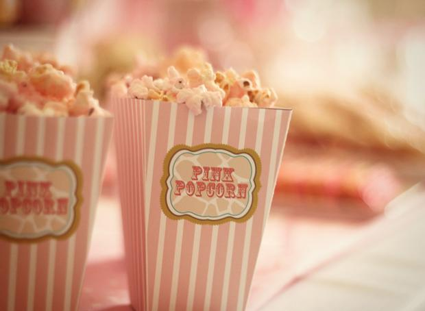 Pink Giraffe Baby Shower Dessert Table Pink Popcorn Baby Shower