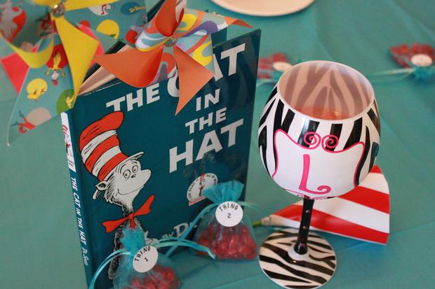 Thing 1 Thing 2 Shower, Twin Baby Shower Ideas, Dr Seuss Inspired Party, ...