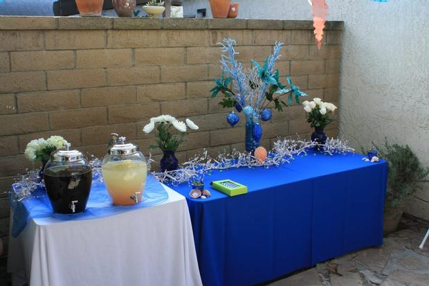 Ahoy Itu0027s A Boy Baby Shower Ahoy Its A Boy Decorations On The Table Under  The