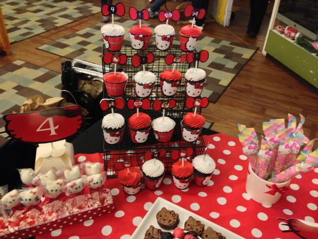 Hello Kitty Birthday Party, Hello Kitty Baby Shower Ideas Themed Brownies  Cupcakes