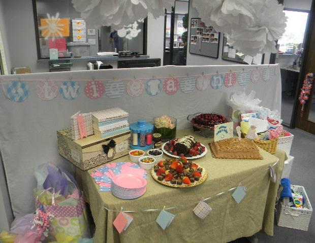 Attractive Office Baby Shower, Dessert Table