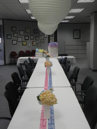 ... Office Baby Shower, Table Setting ...