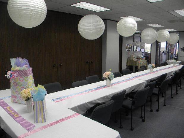 Awesome ... Table Setting Office Baby Shower