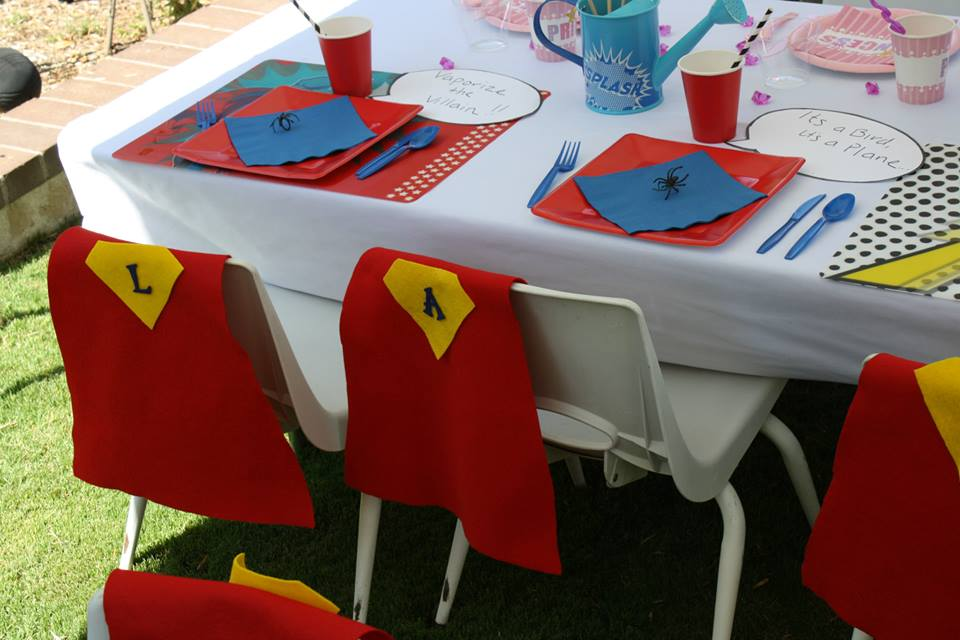 Princess 39 s superheroes birthday party baby shower for All decoration games