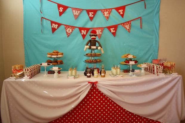 sock monkey baby shower baby shower ideas themes games