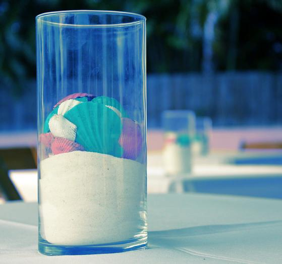 ... Nautical, Preppy U0026 Pink Baby Shower, Sea Shell Centerpiece