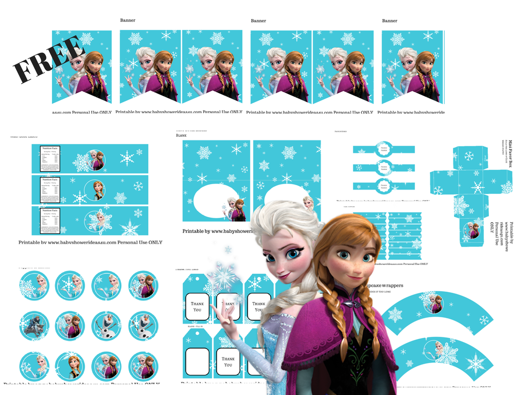 FREE Disney's FROZEN Printable - Baby Shower Ideas - Themes - Games