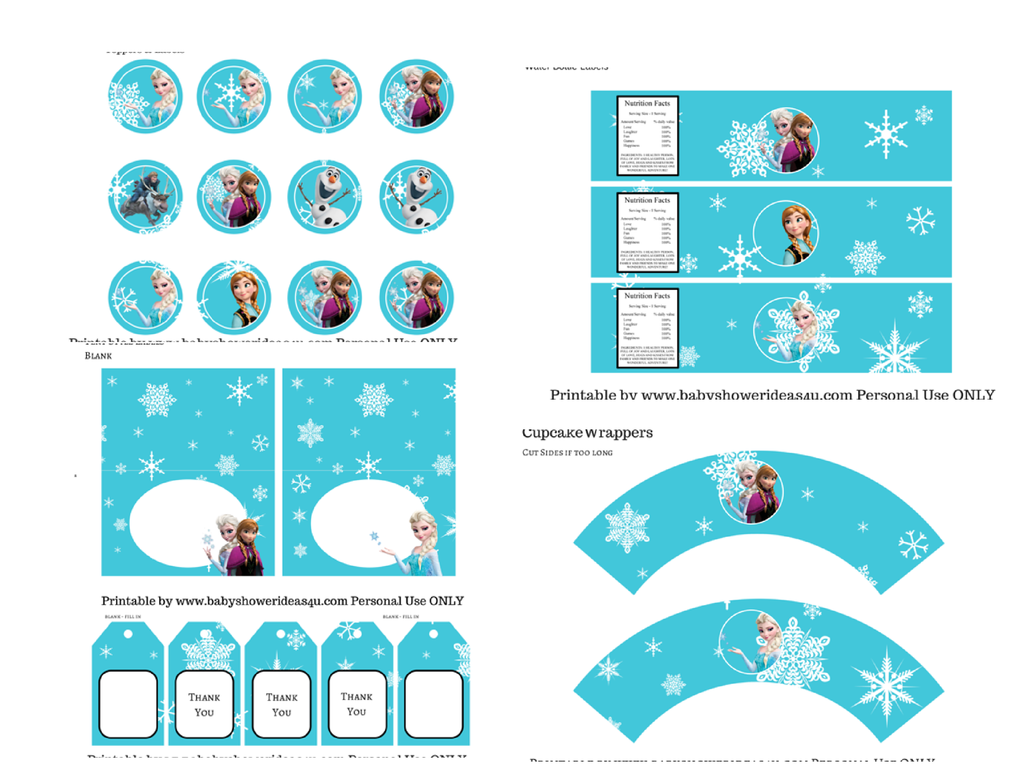 Baby Shower Ideas — FREE Disney's FROZEN Printable