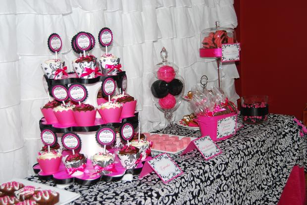 Sprinkled with love baby shower baby shower ideas themes games - Pink baby shower table decorations ...