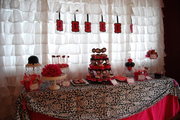 Sprinkled With Love Baby Shower White And Black Damask Baby Shower